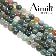 G120 Newest Faceted Indian Agate Beads #Loose Gemstone Beads 6mm-14mm
