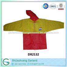 children with pants clear plastic raincoat in pocket