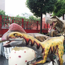 Hot water park playground 3D dinosaur animatronic wholesale animals statues