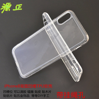 New Transparent Crystal Clear Case for iPhone X Case Gel TPU Soft Cover Skin