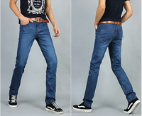 top brand high quality slim fit straight cotton blue men name brand jeans