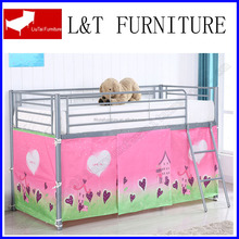 children bed with tent/METAL children's loft bed/mid sleeper