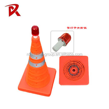 Group Good Quality Colored Folding Traffic Cone/Telescopic Traffic Cone