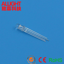 5mm 4 pins RGB LED clear/ diffused lens common cathode or common anode