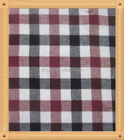 polyester / cotton plaid flannel shirt fabric sanding