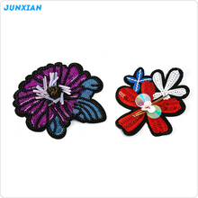 Professional factory made attractive style popular flower design hand embroidery