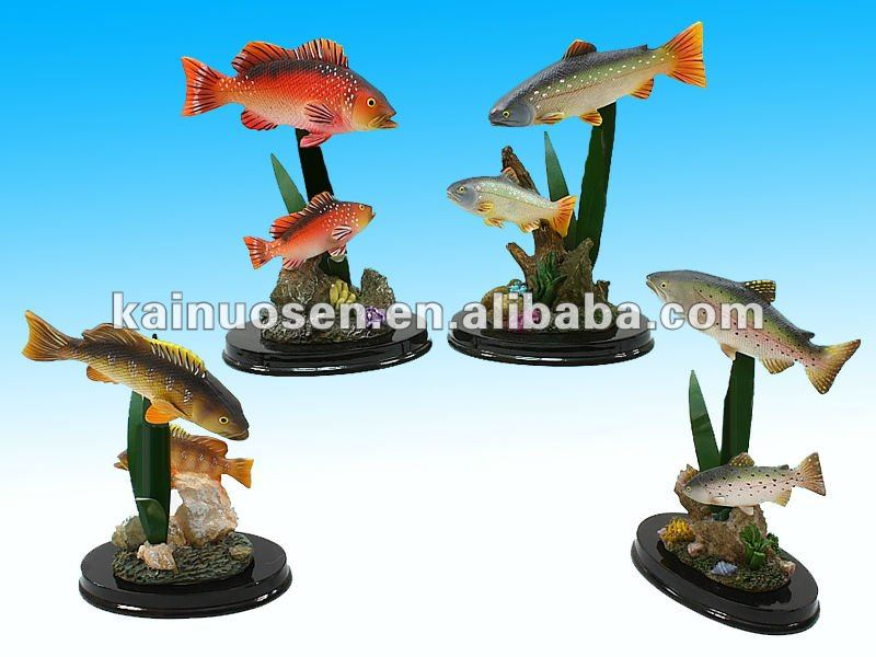 Decorative colorful resin fish sculpture