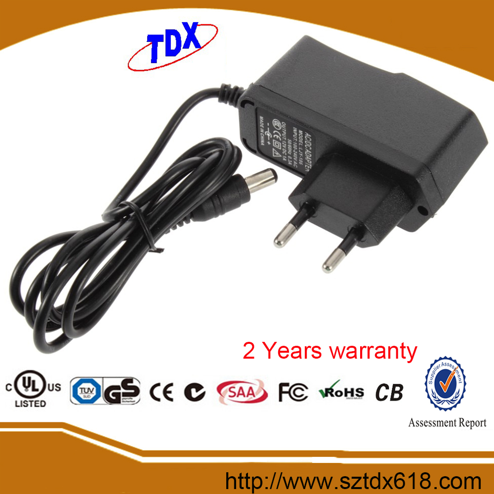 ac adaptor 12v 600ma with UL CE GS SAA FCC approved 2 years warranty