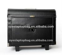 18 inch waterproof classical leather pu luggage with laptop bag