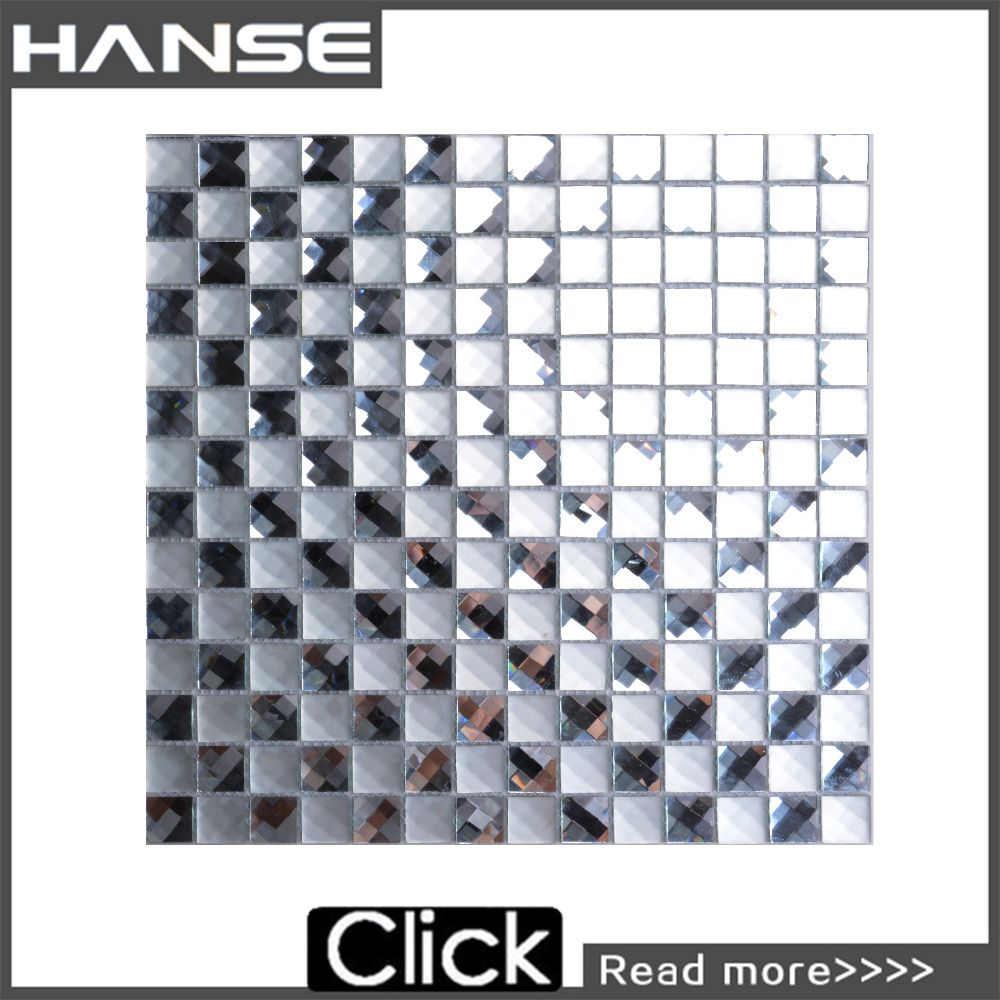 F2X-1-1 mirror mosaic tile sheet/ glass mirror wall and floor tiles/ mirror tiles for walls