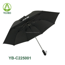 25 inch black color automatic 2 fold umbrella for promotion