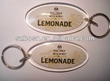 Acrylic block;Acrylic key chain with metal ring;Lucite key holder;