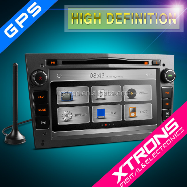 "Xtrons PX71OLODAB-G 7"" Grey color double din in dash gps navigation with dab raido turner for Opel"