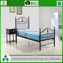 Various color metal single beds factory cheap single metal bed frames wholesale
