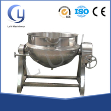 200 liter steam jacketed vertical tilting cooking kettle