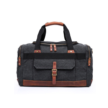 1DF0106 China High Quality Vintage Stylish Mens Travel Cotton Canvas Luggage Heavy Duty Duffle Bag