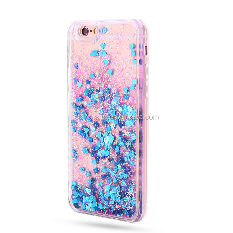 Colorful Moving Stars Liquid Glitter Quicksand 3D Bling Phone Case Cover For iphone5/5S