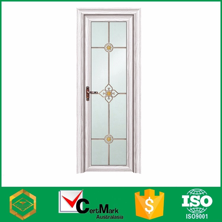 Small white exterior aluminum french door open out