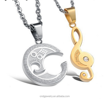Quick sale of popular lovers notes pendant gifts for newly married couple necklace set