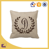 Personalized Letters Design Cushion Cover Monogram Pillow Case with Zipper