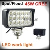 Square cree 44W outdoor led working light