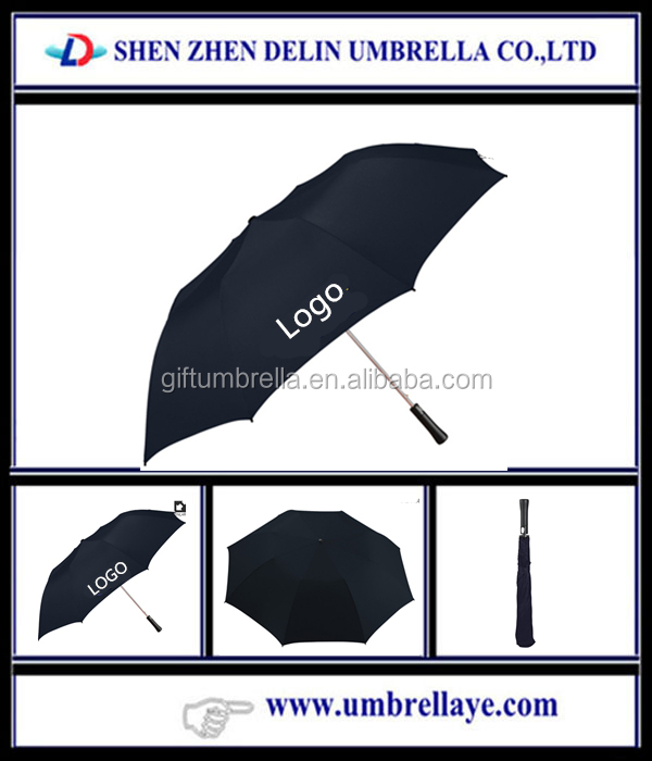 27 inch 2 fold golf umbrella,2 fold auto open umbrella