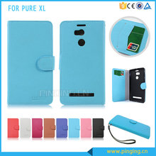 Lichee grain mobile phone wallet flip leather case for Blu Pure XL