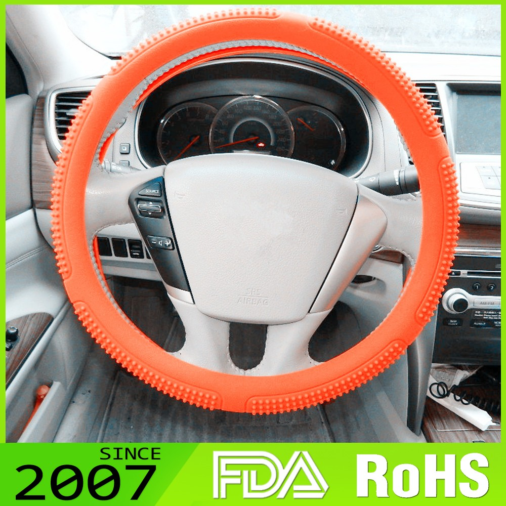 Cost Effective Embellished 3D Custom Designs Available Car Steering Wheel Cover
