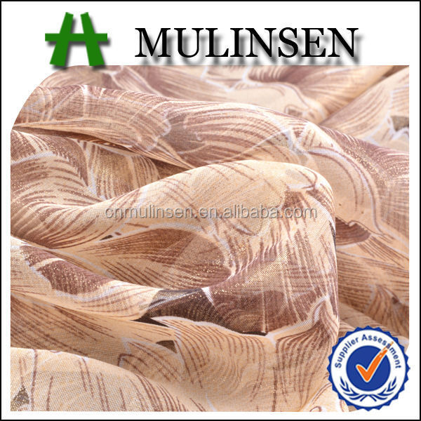 Mulinsen Textile 40D*40D Foil Poly Chiffon Fabric Sample for Fashion Design