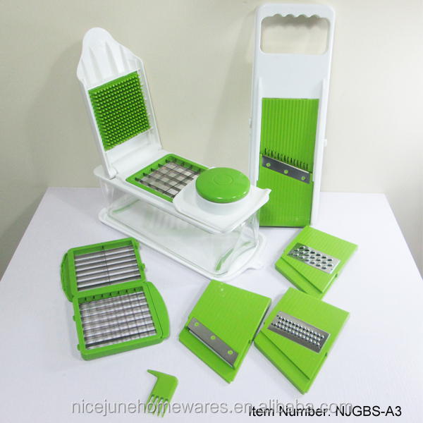 8 in 1 Fruit and Vegetable Slicer Manual Veg Chopper with Container