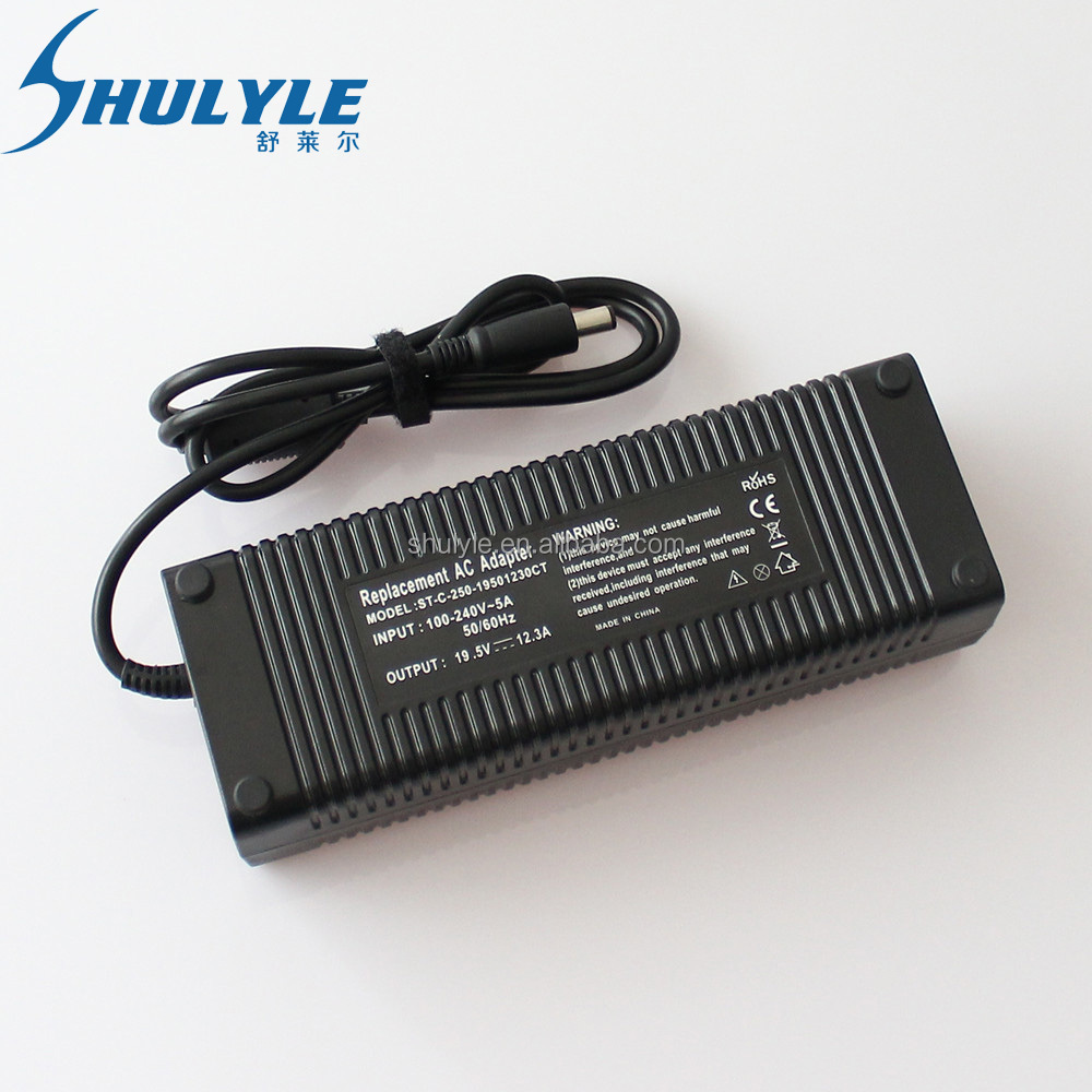 Hot sale Laptop adapter 19.5V 12.3A used for Dell M17x R1 R2 R3 7.4*5.0mm