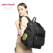 Diaper Bag Backpack With Stroller Straps Wet Bag And Diaper Changing Pad Polyester Nylon Backpack Mommy Bag