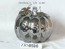 big ceramic electroplated pumpkin