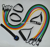 Power Resistance bands kit, 5pcs latex rubber bands set HRB-02B