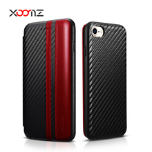 XOOMZ Color Blocking PU Leather Flip Cover Case for iphone 7 7plus