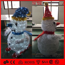 24V 110V 240V High quanlity outdoor waterproof christmas decorative 3D snowman motif light