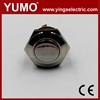 JS16F CE ROHS 16mm flat round 1NO momentary push button switch 12V brass illuminated 4 pins push button switch