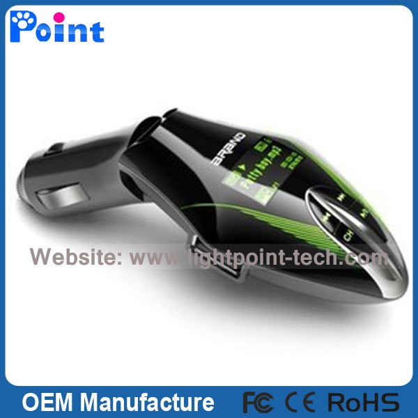 Car Kit car mp3 FM transmitter with Remote usb mini fm radio advertising player
