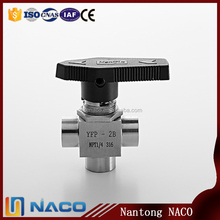 "1/8"" Npt One-piece Instrumentation Ball Valve,Switching Flow Path 3 Way Ball Valve"
