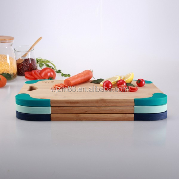 non-slip bamboo silicone cutting boards chopping blocks wholesale