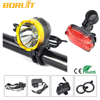 Bicycle Rechargeable LED Headlight with 3 Working Mode Cree T6 LED Headlights