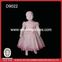Beautiful baby girl party dress pink for one years old