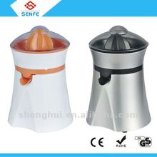 Automatic stylish silver orange citrus juicer
