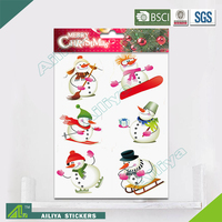 BSCI factory audit Christmas 3D Eco-friendly decorative removable best wall stickers