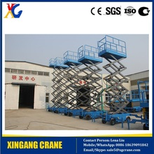 300kg scissor lift platform manlift for Pakistan, Philippines, India, Qatar, Kuwait, Australia, Saudi, Dubai