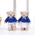 Lovely Valentine's Day gift set romantic couple teddy bear for plush toy blue sports teddy bear