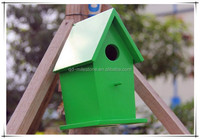 Beautiful Wooden Bird House with Painting for Outdoor Birds