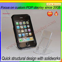 hot sell acrylic Cell Phone retail display stand/phone display holder for mobile phone shop