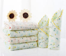 6 PK Flower Pattern Baby Boy Girl Shower Gift Face Washcloth