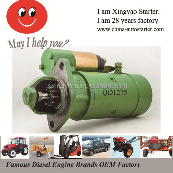 Direct Drive Starter for Jiangdong Diesel engine and Generators QD1275